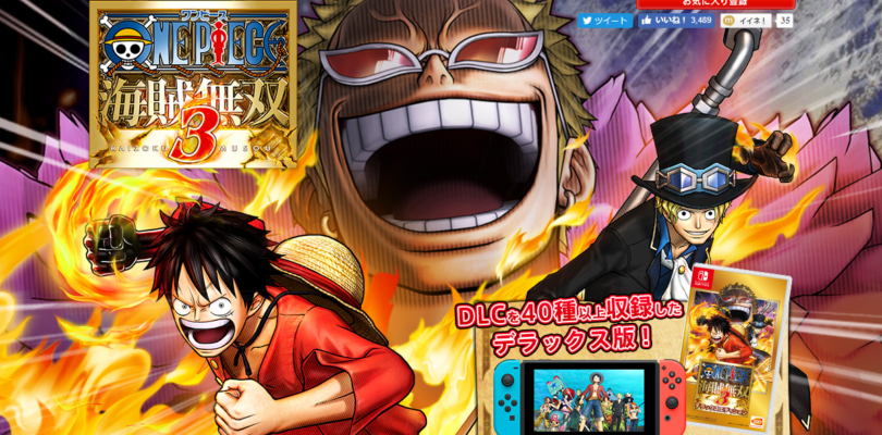 One Piece Pirate Warriors 3 sarà rilasciato per la Switch