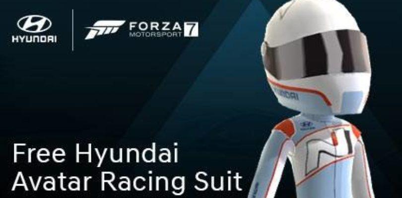 Forza Motorsport 7 – Gratis la tuta da gara della Hyundai per l'avatar di Xbox