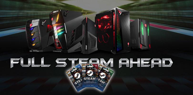 [NEWS] Credito STEAM e tanti accessori gaming in regalo con i PC Desktop e monitor firmati MSI