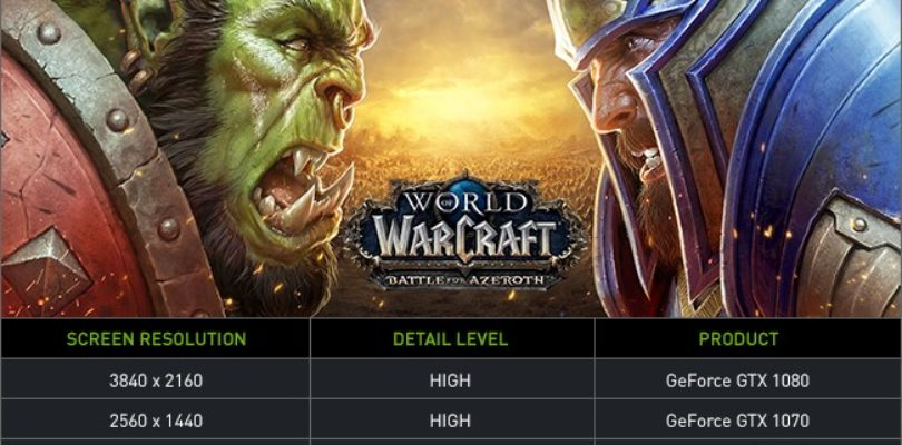 [NEWS] Nuovi driver game ready per World of Warcraft: Battle for Azeroth da NVIDIA