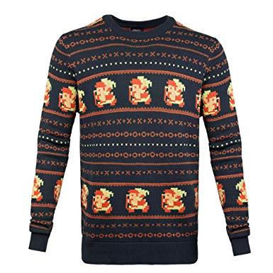 The Legend of Zelda Sweater Link Christmas blue Size S Bioworld Nintendo Felpe