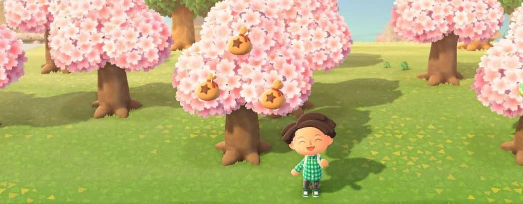 Animal crossing new horizons soldi su alberi