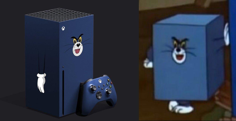 La console Microsoft trasformata nel gatto Tom
